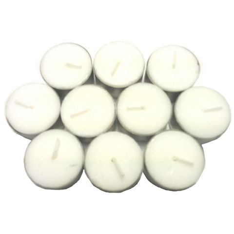 10 x White Unscented Long Lasting Tealights - 8 Hours